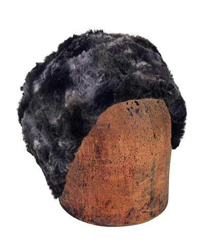 Men's Cuffed Pillbox, Reversible (Solid or Two-Tone) - Luxury Faux Fur in Highland Medium / Skye Hats Pandemonium Millinery