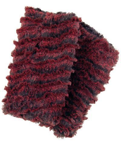 Pandemonium Millinery Men's Fingerless / Texting Gloves, Reversible - Desert Sand Faux Fur Desert Sand in Crimson / Black Accessories