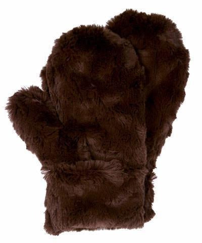 Men's Mittens - Cuddly Faux Fur (Stone - SOLD OUT) Chocolate Accessories Pandemonium Millinery