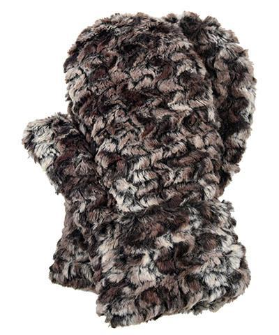 Men's Mittens - Luxury Faux Fur in Calico