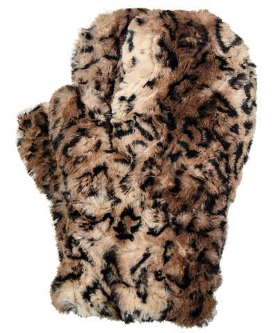 Men's Mittens - Luxury Faux Fur in Carpathian Lynx Carpathian Lynx Accessories Pandemonium Millinery