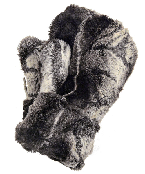 Men's Mittens - Luxury Faux Fur in Honey Badger Honey Badger Accessories Pandemonium Millinery