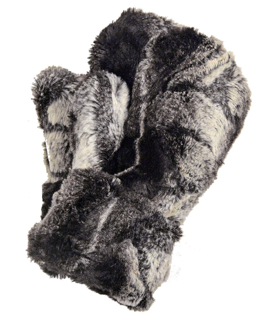 Mittens - Luxury Faux Fur in Honey Badger Honey Badger Accessories Pandemonium Millinery