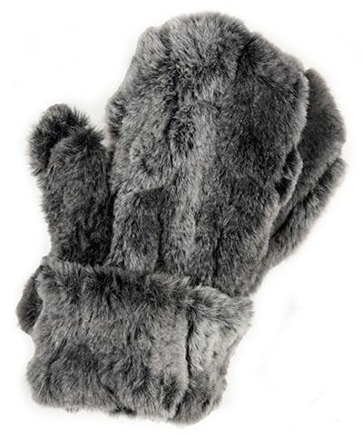 Mittens - Luxury Faux Fur in Stormy Night Stormy Night Accessories Pandemonium Millinery