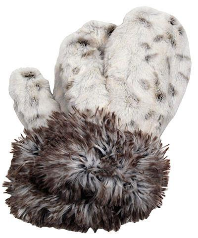 Mittens - Luxury Faux Fur in Winters Frost Winters Frost Accessories Pandemonium Millinery