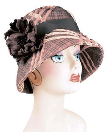 Molly Hat Style - Copper Plaid Upholstery (Brooch - SOLD OUT)