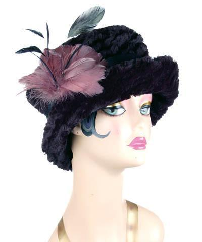 Molly Hat Style - Desert Sand Faux Fur in Midnight