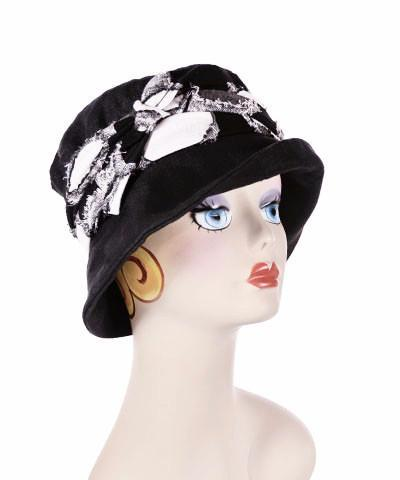 Molly Hat Style - Linen in Black Medium / Hat Only Hats Pandemonium Millinery