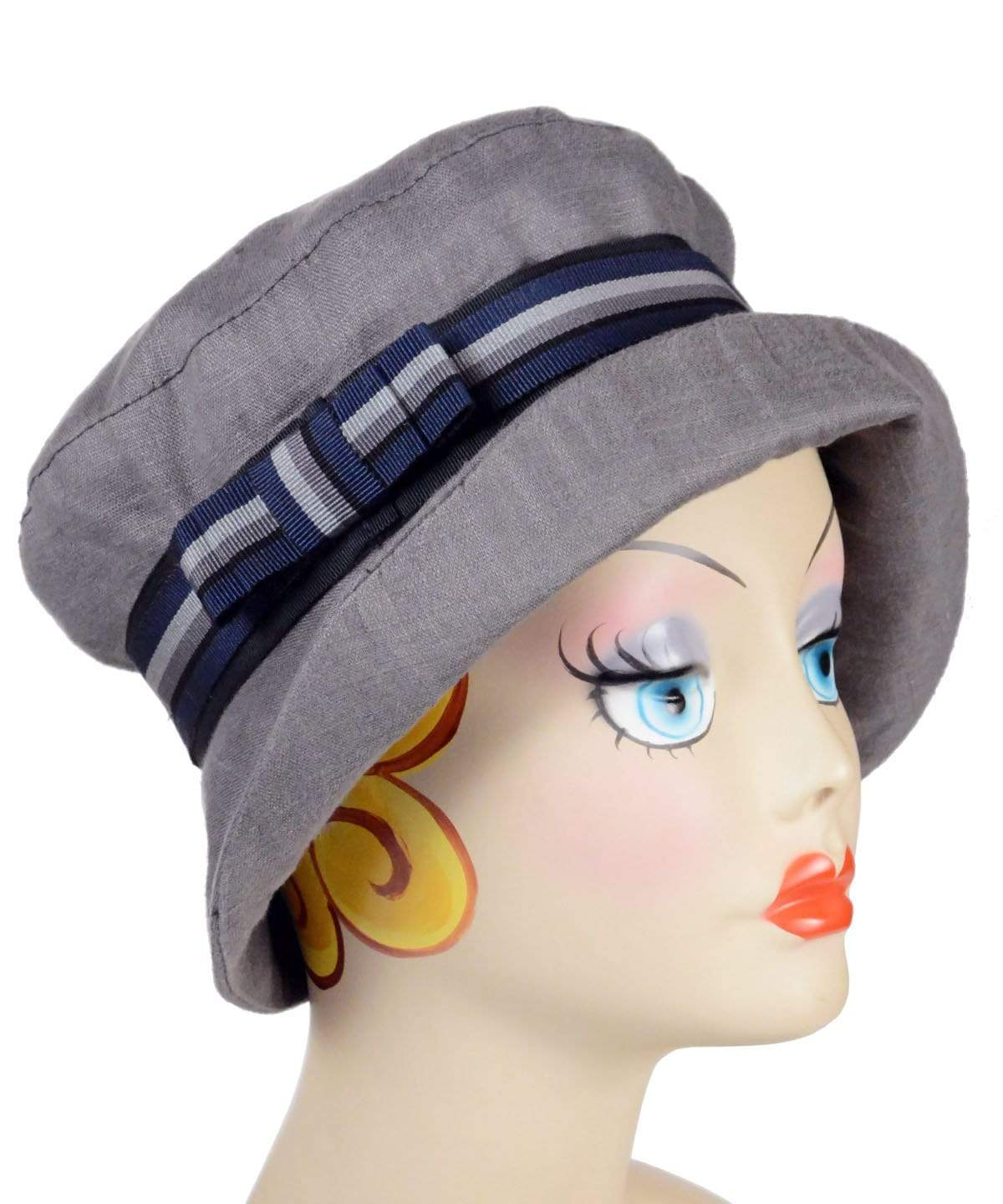 Molly Hat Style - Linen in Gray