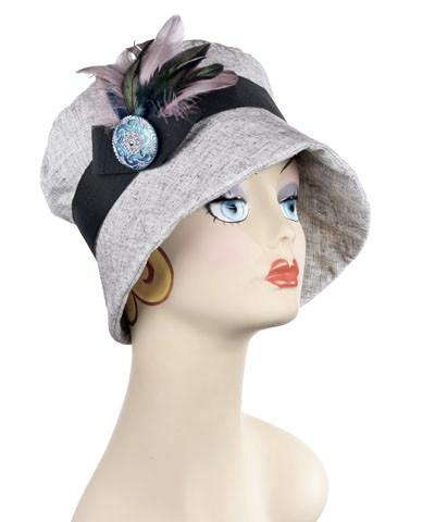 Molly Hat Style - Linen in Metallic Silver Medium / Hat Only Hats Pandemonium Millinery