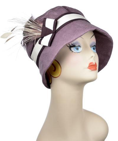 Molly Hat Style - Linen in Plum