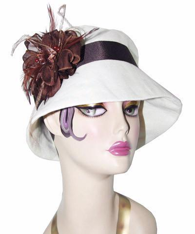 Molly Hat Style - Linen in Seashell