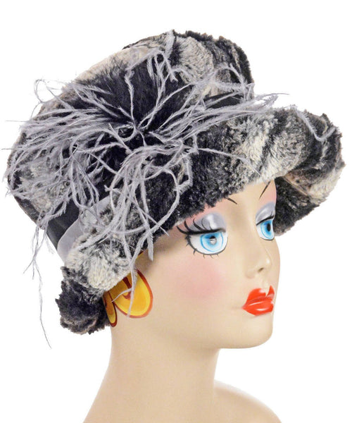 Molly Hat Style - Luxury Faux Fur in Honey Badger Medium / Hat Only Hats Pandemonium Millinery