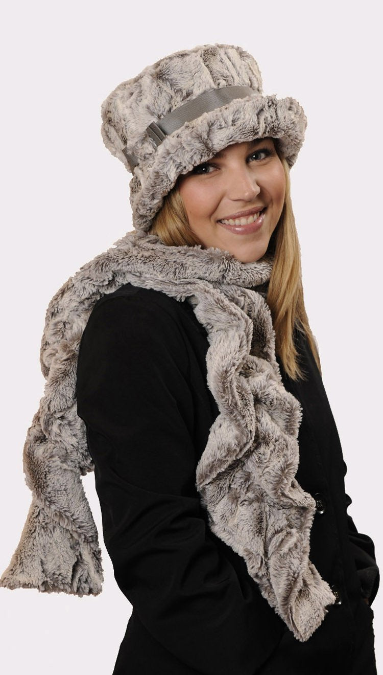 Molly Hat Style - Luxury Faux Fur in Khaki