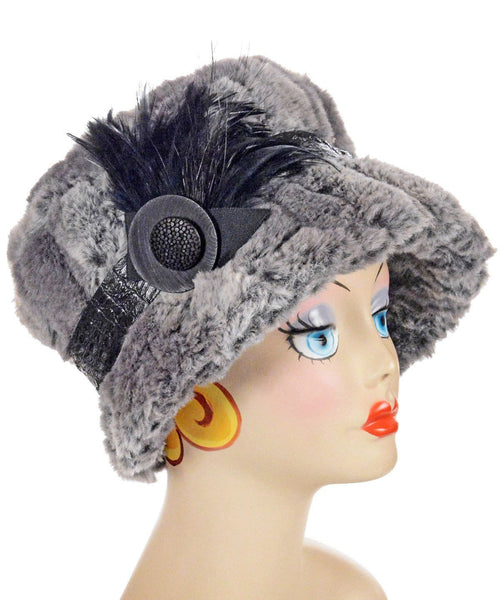 Molly Hat Style - Luxury Faux Fur in Stormy Night Medium / Hat Only Hats Pandemonium Millinery
