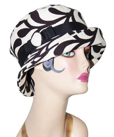 Molly Hat Style - White Pepper Paisley
