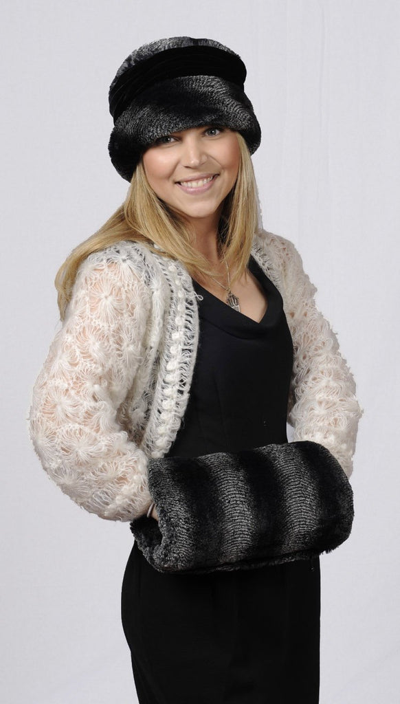 Muff, Reversible less pockets - Minky Faux Fur Minky Black - Solid Accessories Pandemonium Millinery