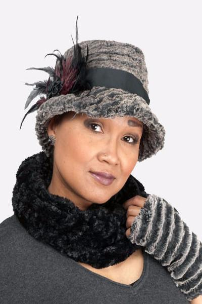 Neck Warmer - Cuddly Faux Fur Black Scarves Pandemonium Millinery