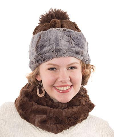 Neck Warmer - Cuddly Faux Fur Chocolate Scarves Pandemonium Millinery