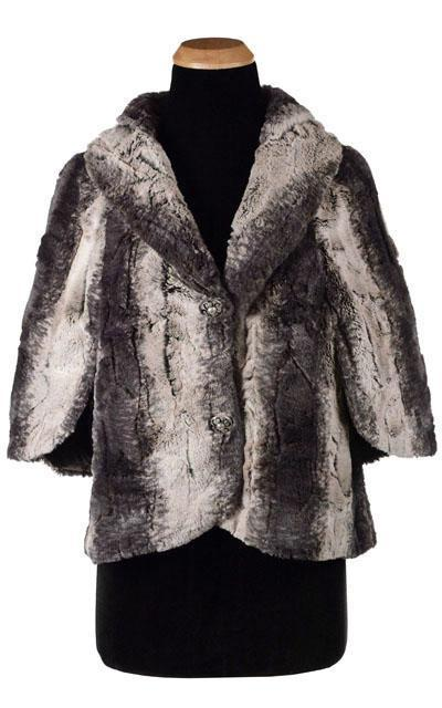 Opera Cape - Luxury Faux Fur in Meerkat (One Left!) Meerkat / Black Outerwear Pandemonium Millinery