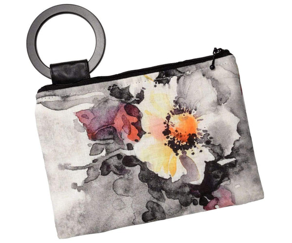 Pandemonium Millinery Paris Clutch - Linen in Multi Floral Handbag