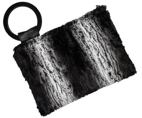 Paris Clutch - Luxury Faux Fur in Smouldering Sequioa Smouldering Sequioa Handbag Pandemonium Millinery