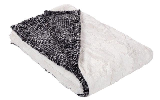 Pet / Dog Blanket - Cozy Cable in Ash Faux Fur