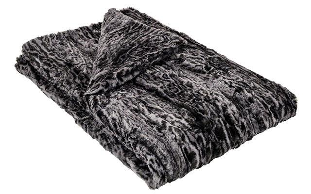 Pet / Dog Blanket - Luxury Faux Fur in Siberian Lynx