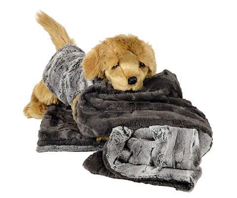 "Dog Blanket - Luxury Faux Fur in Stormy Night Standard 58"" x 45"" / Stormy Night Pet Accessories Pandemonium Millinery"
