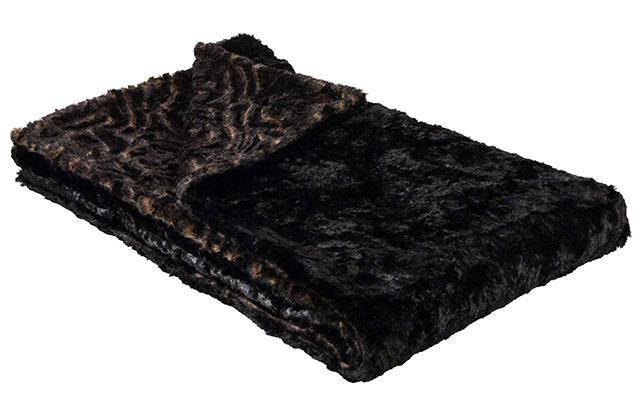 "Pet / Dog Blanket - Luxury Faux Fur in Vintage Rose Standard 58"" x 45"" / Vintage Rose / Cuddly Black Pet Accessories Pandemonium Millinery"