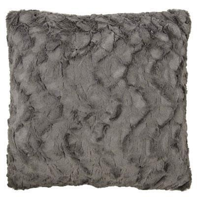 "Pillow Sham - Cuddly Faux Fur (Stone - SOLD OUT) 16"" / Add Pillow Form / Cuddly Gray Home decor Pandemonium Millinery"