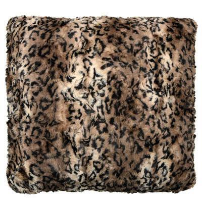 "Pillow Sham - Luxury Faux Fur in Carpathian Lynx 16"" / Add Pillow Form / Carpathian Lynx Home decor Pandemonium Millinery"