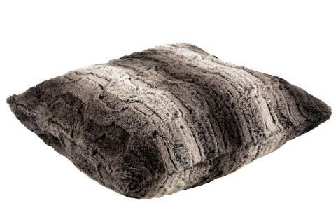 Pillow Sham - Luxury Faux Fur in Chinchilla Brown