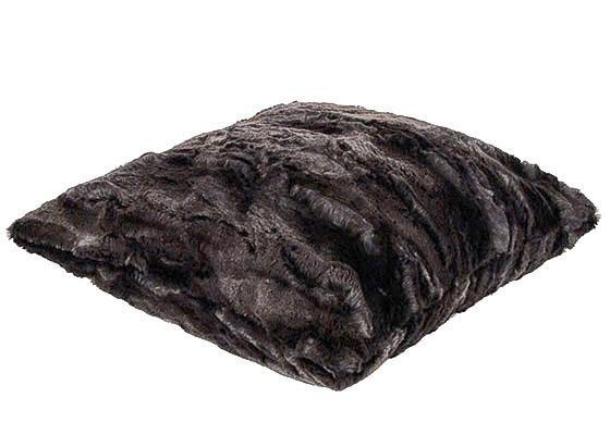 "Pillow Sham - Luxury Faux Fur in Espresso Bean 16"" / Add Pillow Form / Espresso Bean Home decor Pandemonium Millinery"