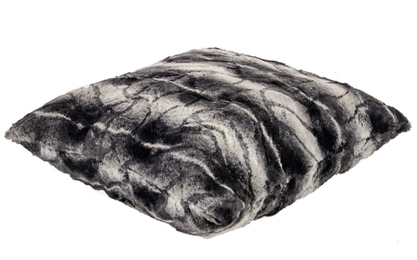 Pandemonium Millinery Pillow Sham - Luxury Faux Fur in Honey Badger Home decor