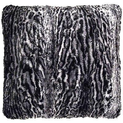 "Pillow Sham - Luxury Faux Fur in Siberian Lynx 16"" / Add Pillow Form / Siberian Lynx Home decor Pandemonium Millinery"