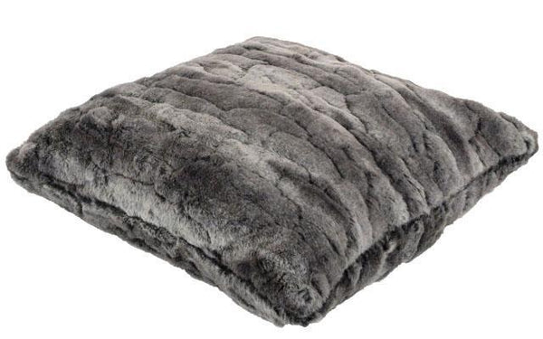 "Pillow Sham - Luxury Faux Fur in Stormy Night 16"" / Add Pillow Form / Stormy Night Home decor Pandemonium Millinery"