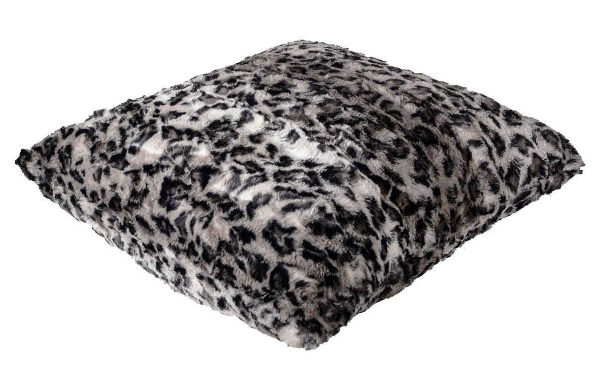 Pillow Sham - Luxury Faux Fur Savannah Cat in Gray