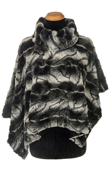 Poncho - Luxury Faux Fur in Honey Badger Honey Badger / Black Outerwear Pandemonium Millinery
