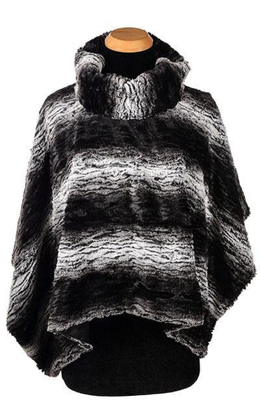 Poncho - Luxury Faux Fur in Smouldering Sequoia Smouldering Sequoia / Black Outerwear Pandemonium Millinery