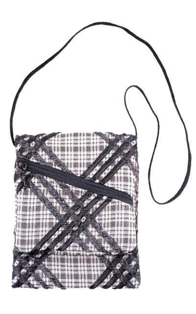 Prague Style Handbag - Plaid Upholstery
