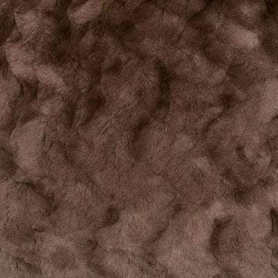 Pull-Thru Scarf - Cuddly Faux Fur in Chocolate