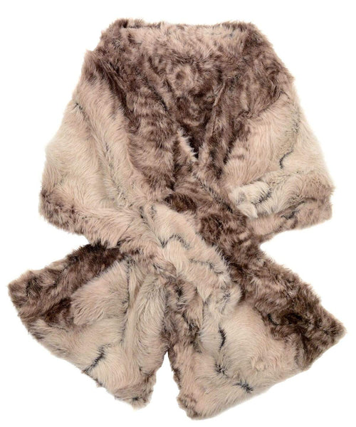 Pandemonium Millinery Pull-Thru Scarf - Luxury Faux Fur in Fawn Fawn - Solid Scarves