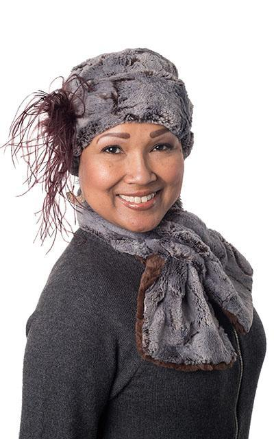 Pull-Thru Scarf - Luxury Faux Fur in Giant's Causeway Giant's Causeway / Chocolate Scarves Pandemonium Millinery