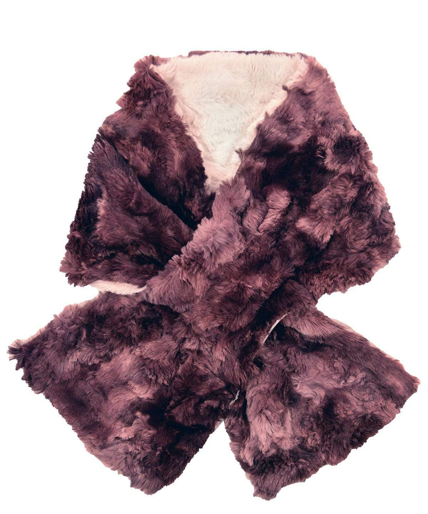 Pandemonium Millinery Pull-Thru Scarf - Luxury Faux Fur in Highland (Meadow - 4 LEFT!) Thistle / Sand Scarves