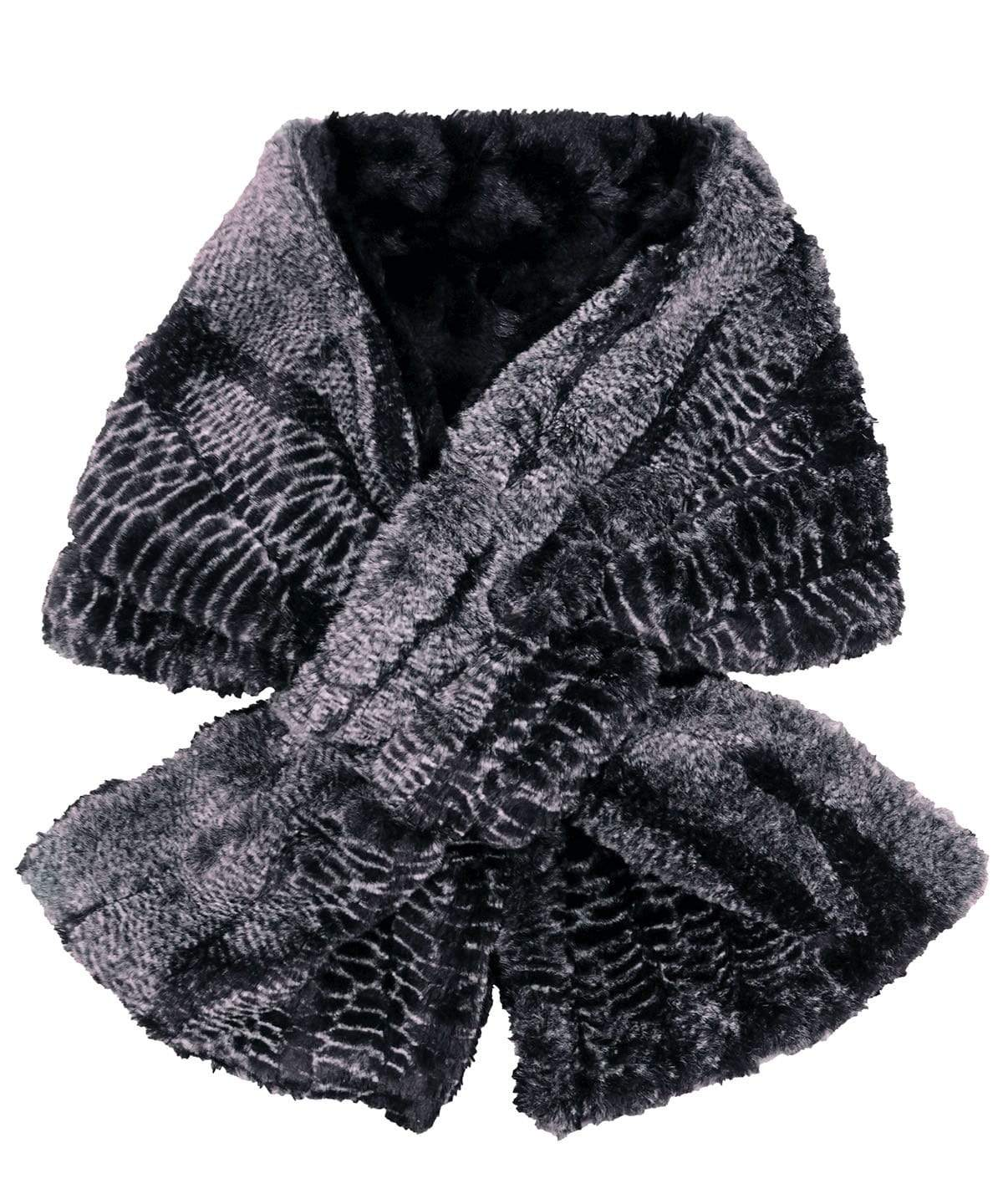 Pull-Thru Scarf - Luxury Faux Fur in Rattlesnake Ridge (SOLD OUT)