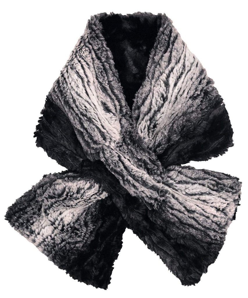 Pandemonium Millinery Pull-Thru Scarf - Luxury Faux Fur in Smouldering Sequoia Smouldering Sequoia / Black Scarves