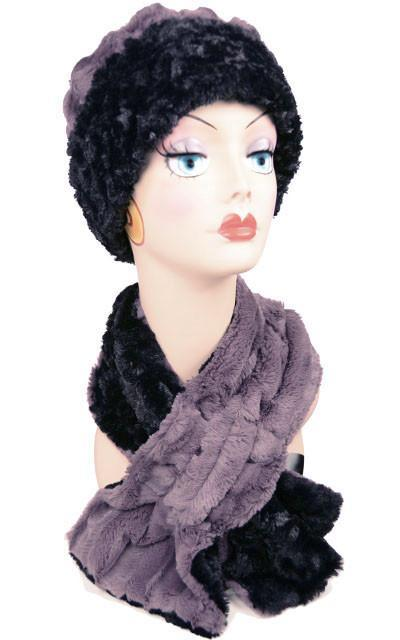 Pull-Thru Scarf - Minky Faux Fur (MAUVE - ONE SOLID / ONE TWO-TONE LEFT!)
