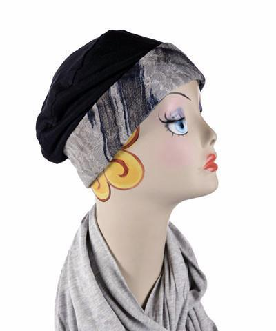 Rowdie, Reversible - Lovely Lace Blue / Lined Hats Pandemonium Millinery
