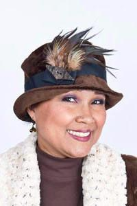 Samantha Hat Style - Cohen in Chocolate Upholstery (Large Only) Medium / Band - Black / Trim - Assorted Hats Pandemonium Millinery